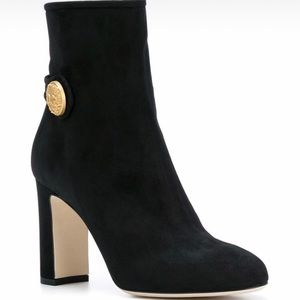 New D&G black suede booties in box size 38